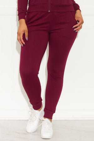 Meant To Be Jogger Burgundy