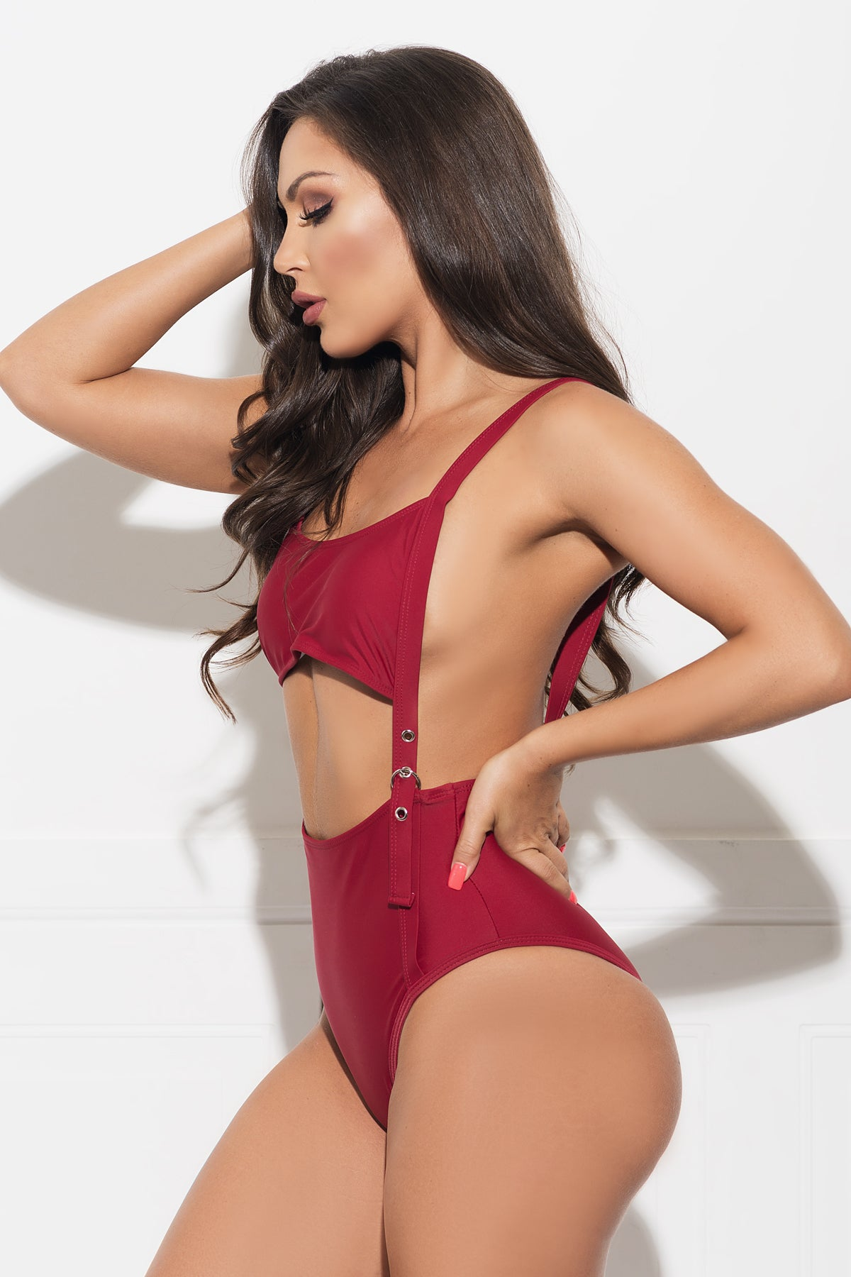 San Gregorio Beach One Piece Swimsuit - Burgundy