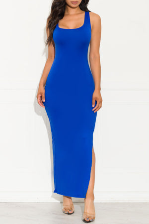 Free Spirit Maxi Dress Royal Blue