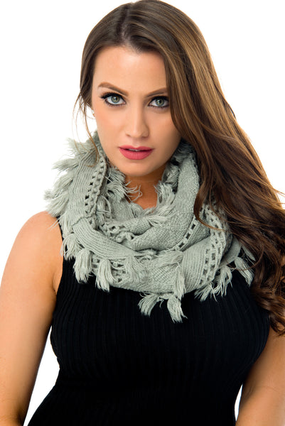 Bria Grey Scarf - Fashion Effect Store  - 1