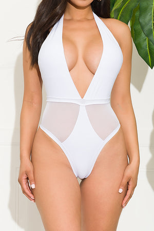 Drini Beach One Piece Swimsuit White