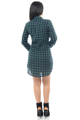 Lissa Plaid Dress - Fashion Effect Store  - 2