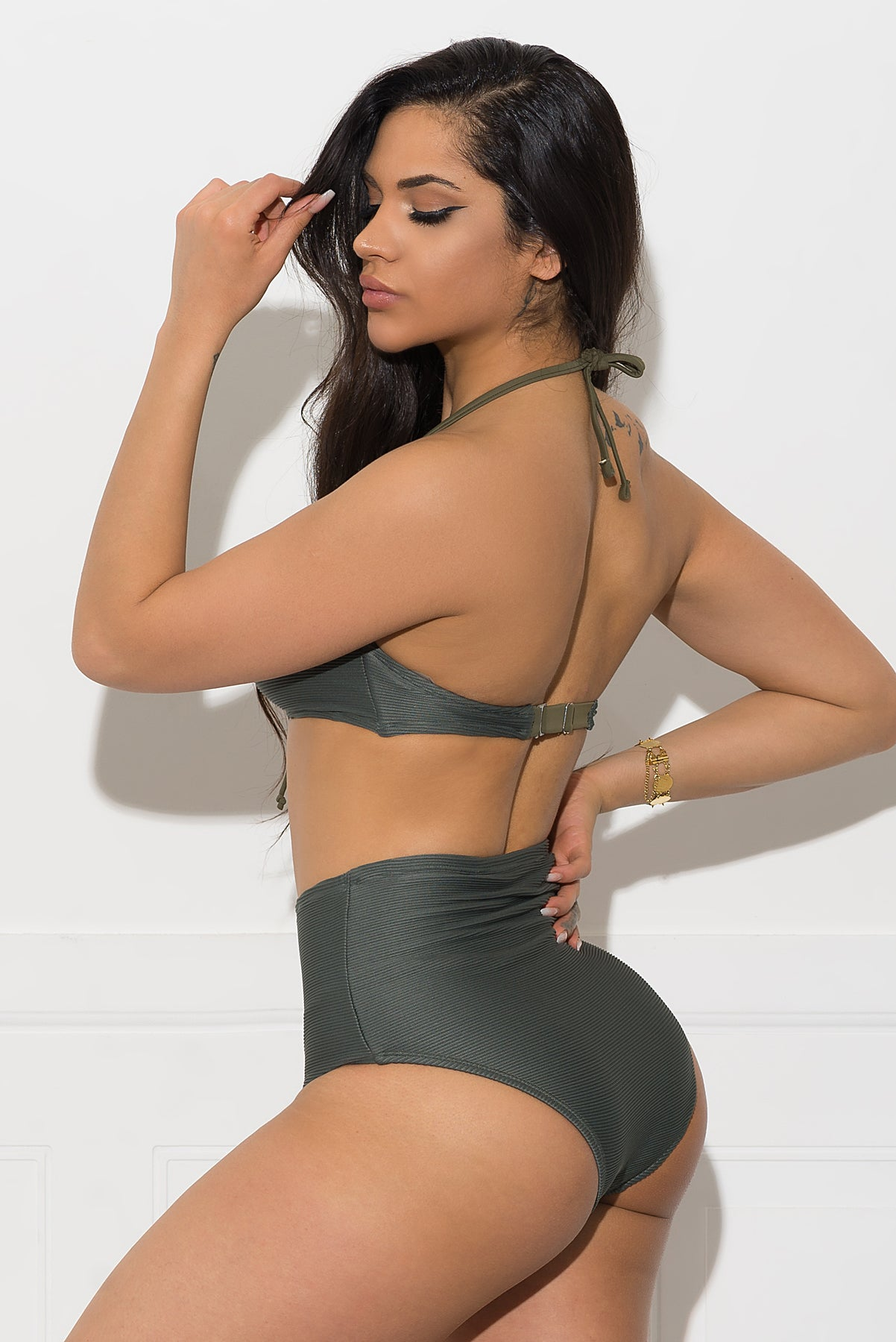 Sun Island Two Piece Swimsuit - Olive Green