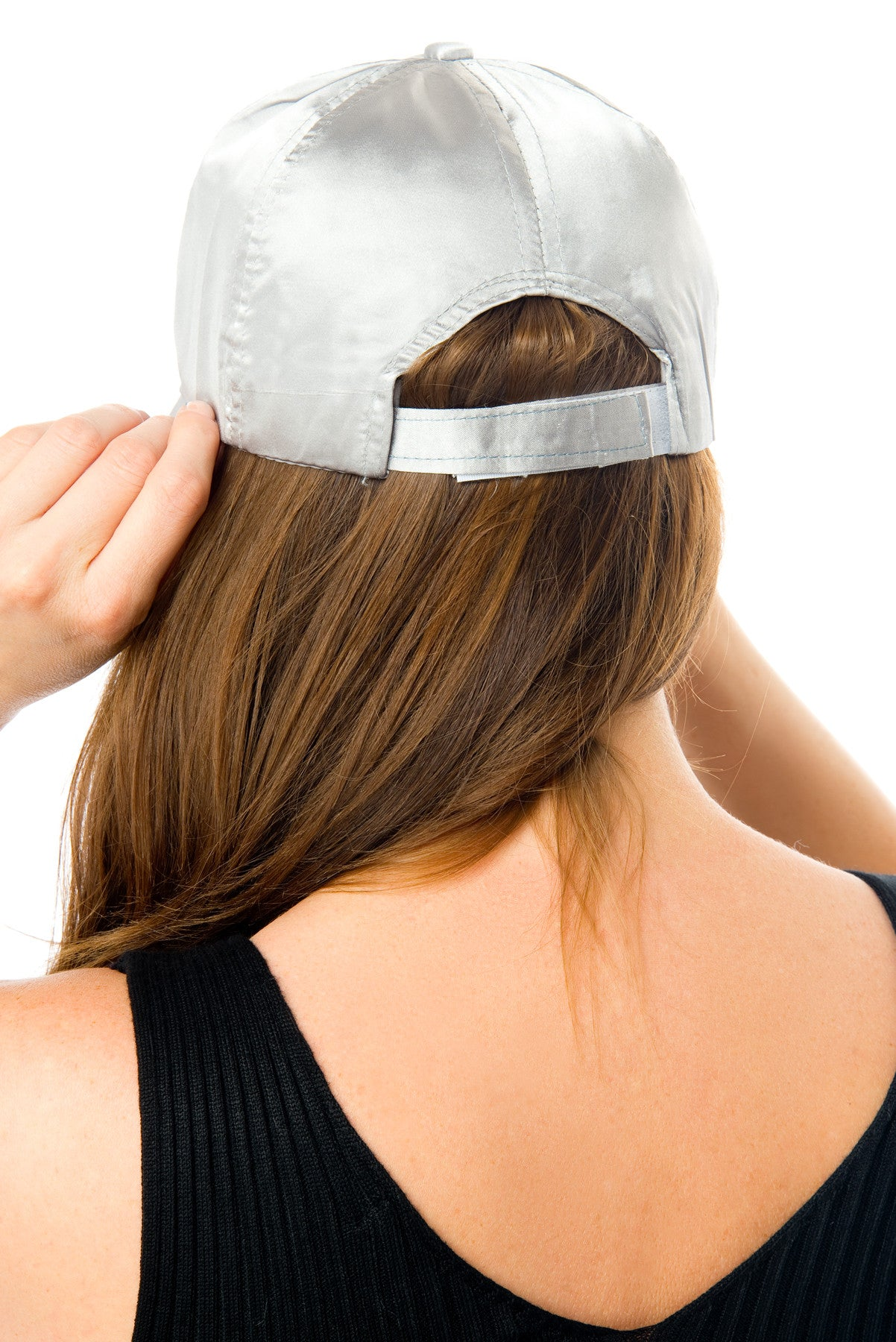 Lined Up Silver Satin Cap - Fashion Effect Store  - 2