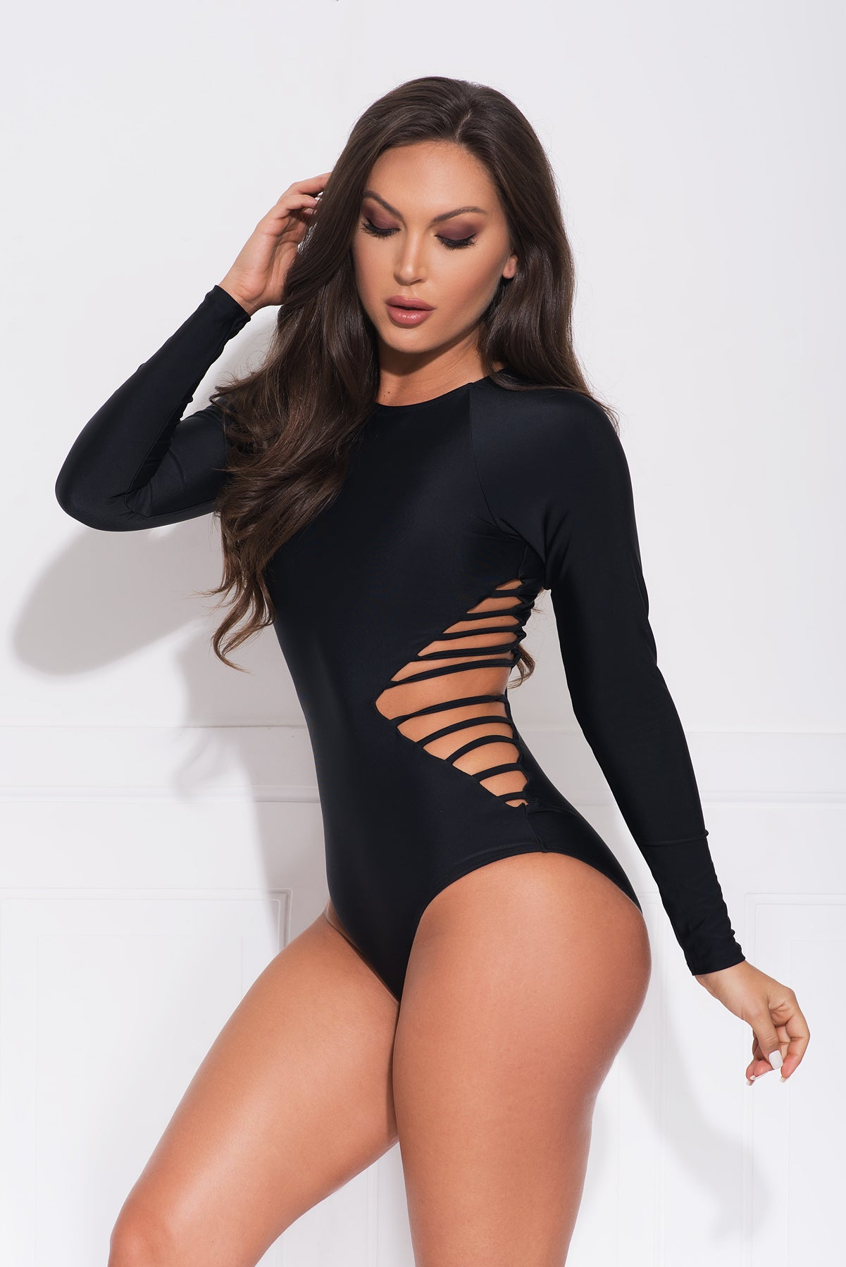 Hot Water Beach One Piece Swimsuit - Black