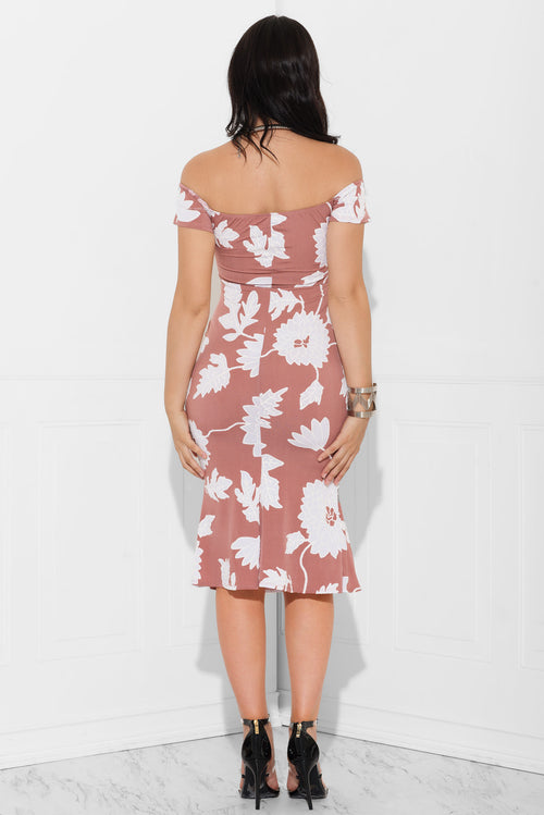 Haley Floral Dress Dusty Rose