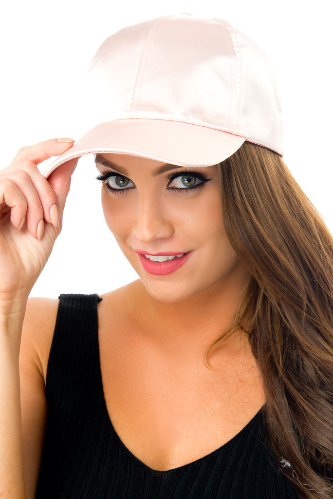 Lined Up Blush Satin Cap - Fashion Effect Store  - 1