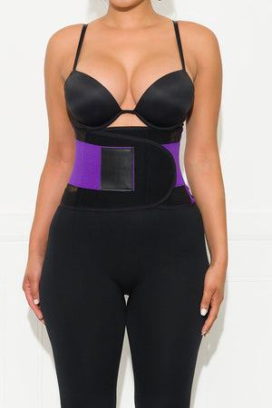 Power Belt And Waist Trainer Purple