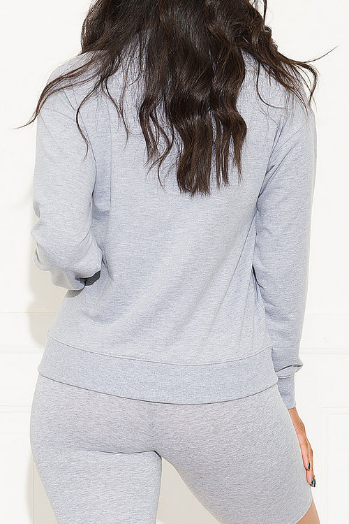 Take A Hint Sweater Heather Grey