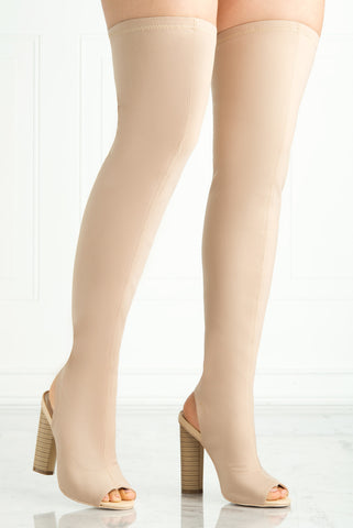 Freedom Nude Boots - Fashion Effect Store  - 2