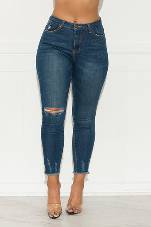 Stronger Than Before Distressed Jeans