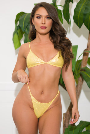 Cobalt Coast Two Piece Swimsuit Yellow