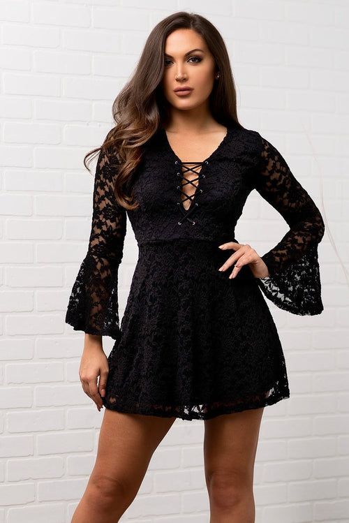 Scarlett Lace Dress - Black