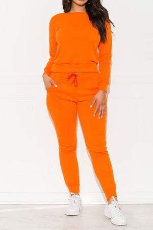 Run Away Two Piece Set Orange