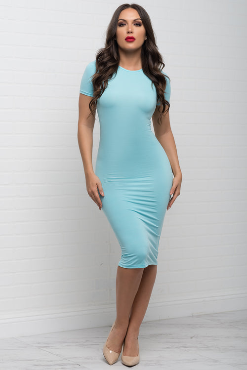 You Belong To Me Dress - Baby Blue