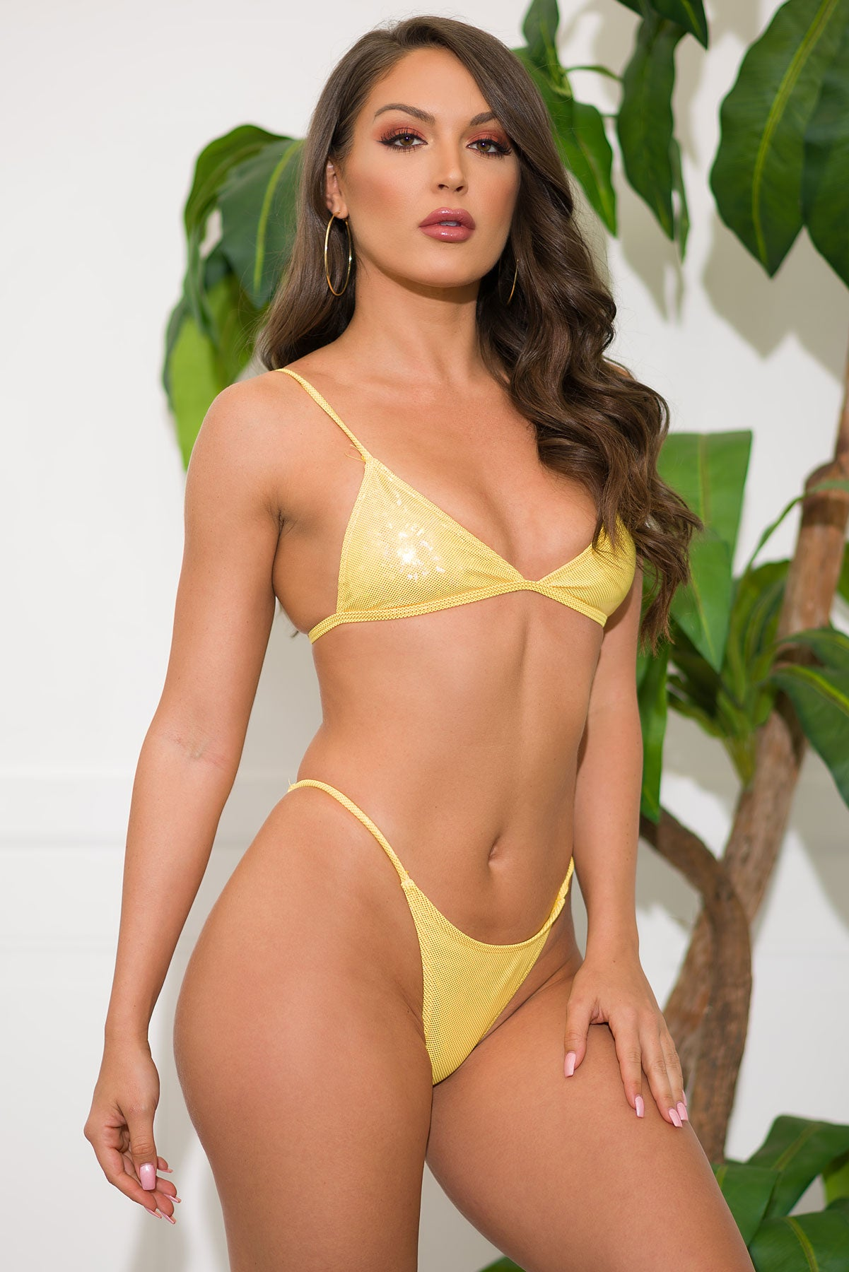 Cobalt Coast Two Piece Swimsuit- Yellow