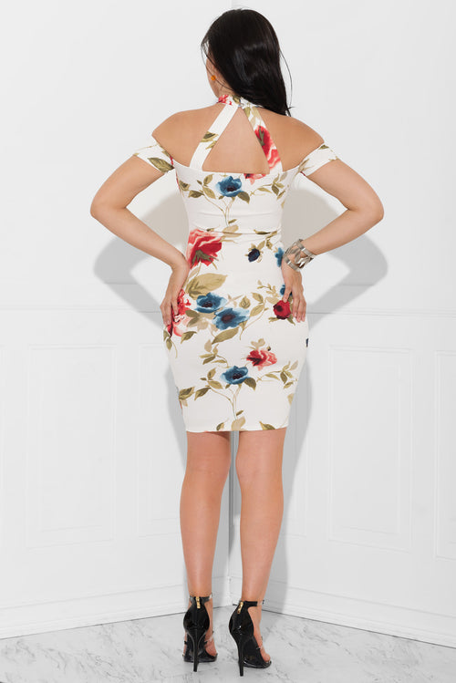 Ivy Floral Dress White