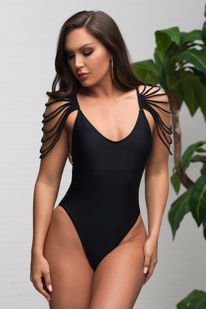 Palominos Island One Piece Swimsuit  Black