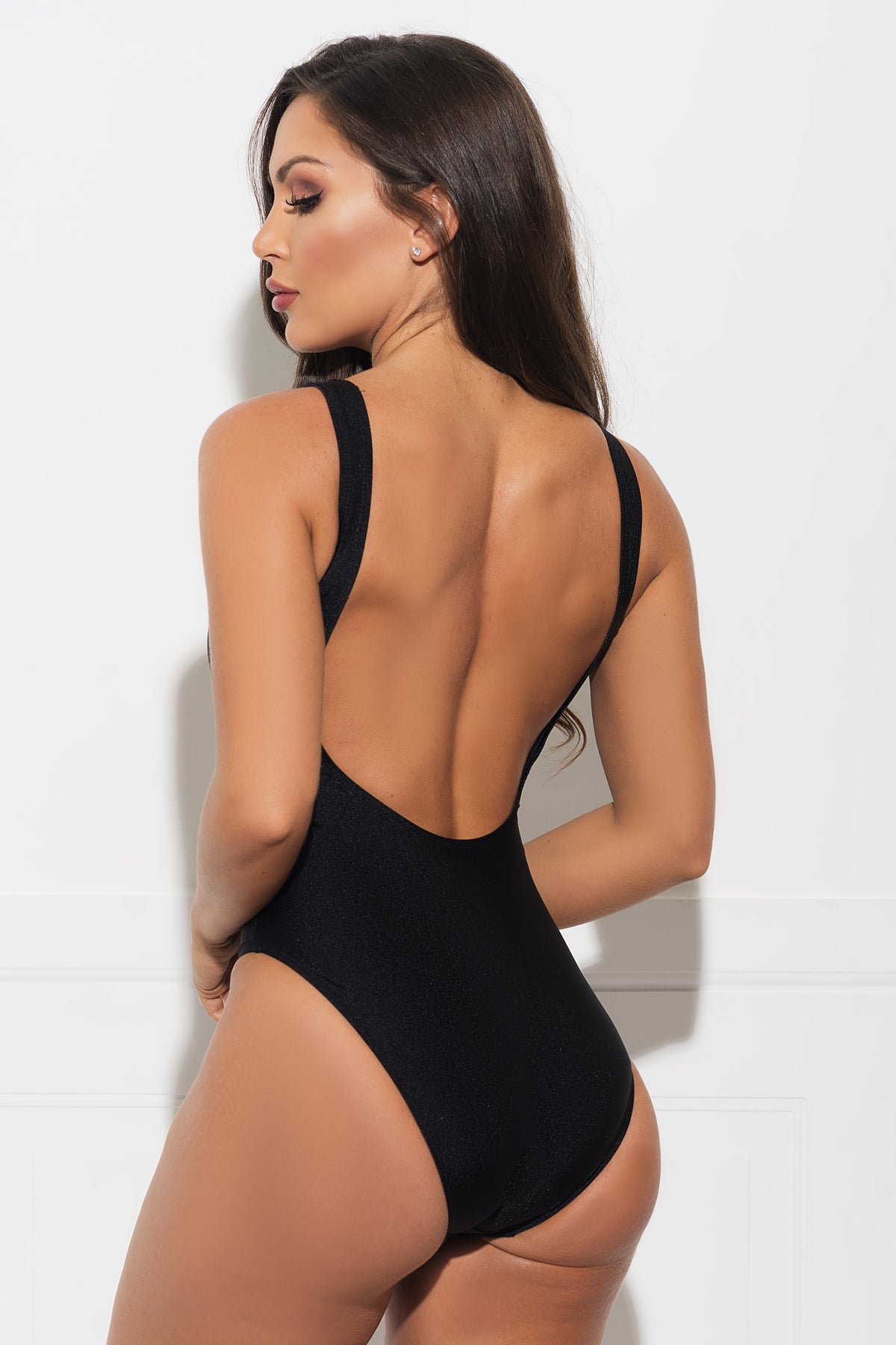 Team Bride One Piece Swimsuit- Black