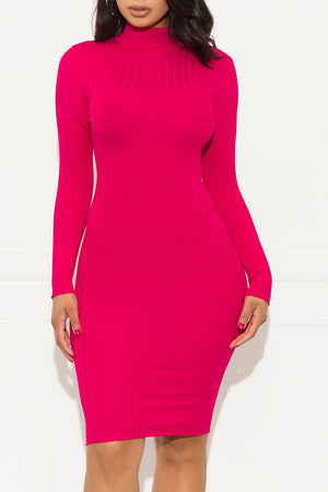 Make It Last Dress Hot Pink