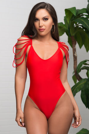 Palominos Island One Piece Swimsuit  Red