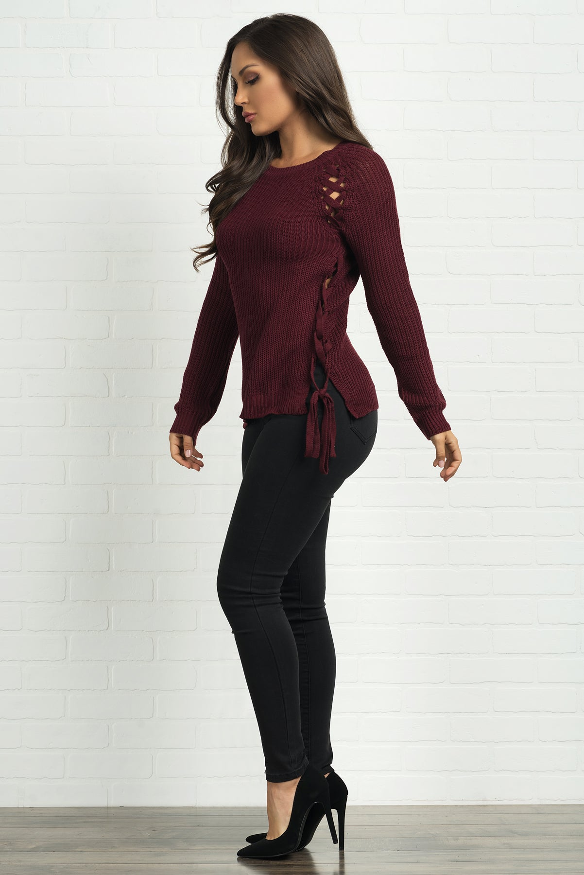 Natasha Sweater-Burgundy