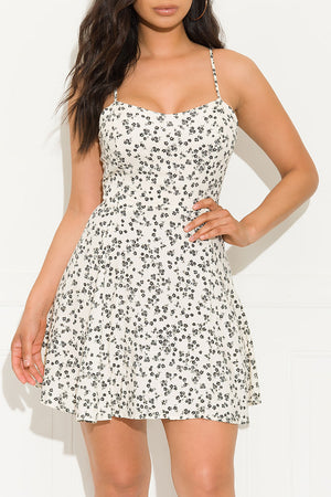 Timeless Summer Dress Cream And Black
