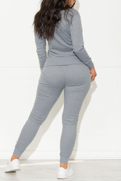 Run Away Two Piece Set Grey