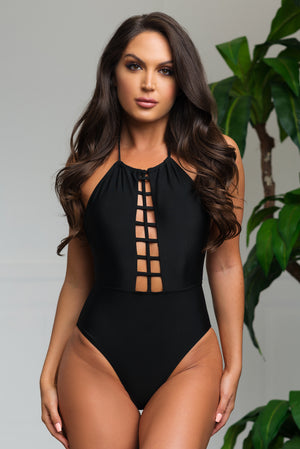 West Bay One Piece Swimsuit Black