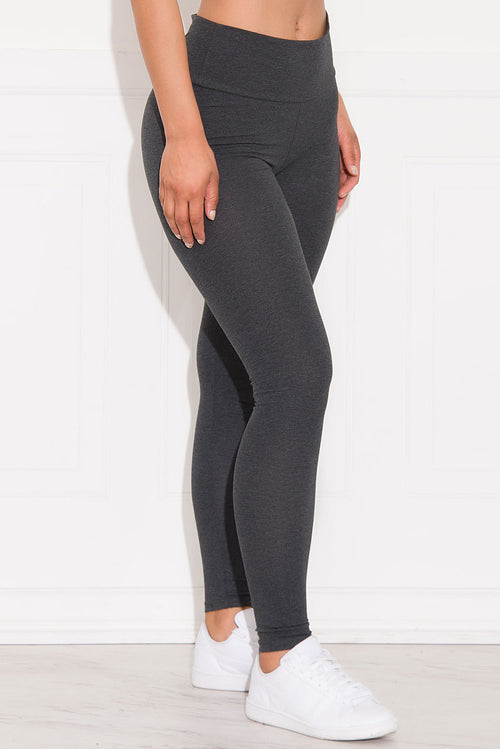 Skylar High Waist Leggings Charcoal Grey