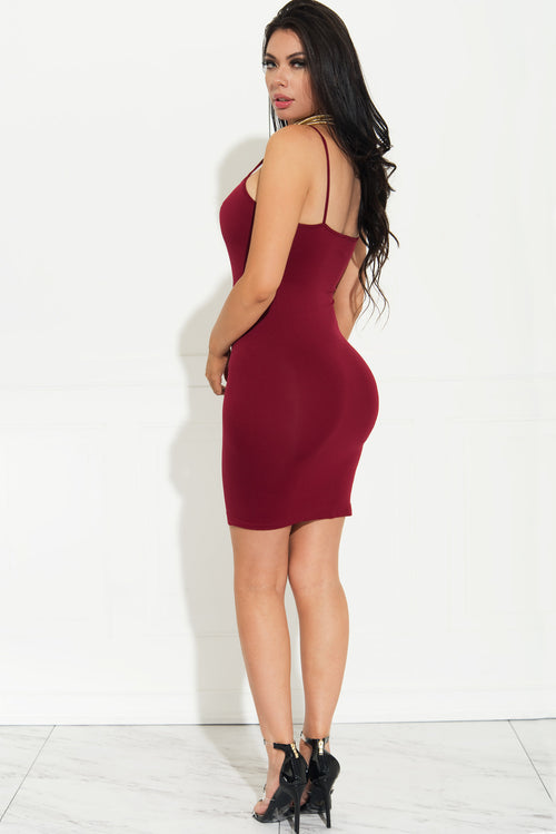 Irresistible Burgundy Mini Dress