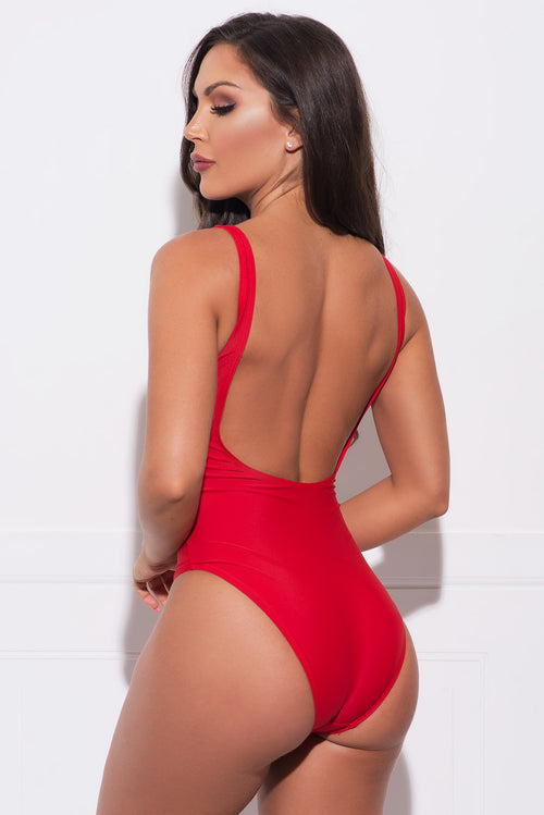 Spicy Margarita One Piece Swimsuit  Red