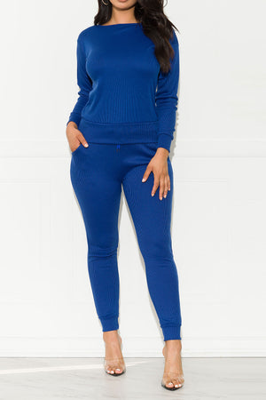 Run Away Two Piece Set Royal Blue