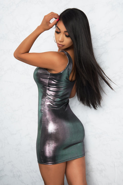 Belle Metallic Dress