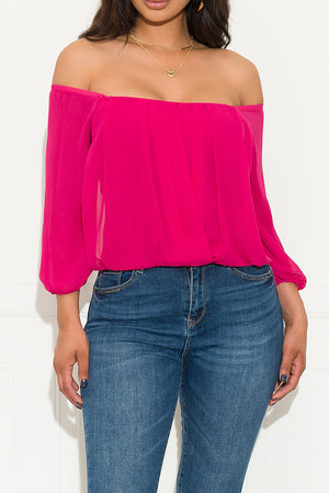 Something Different Blouse Magenta
