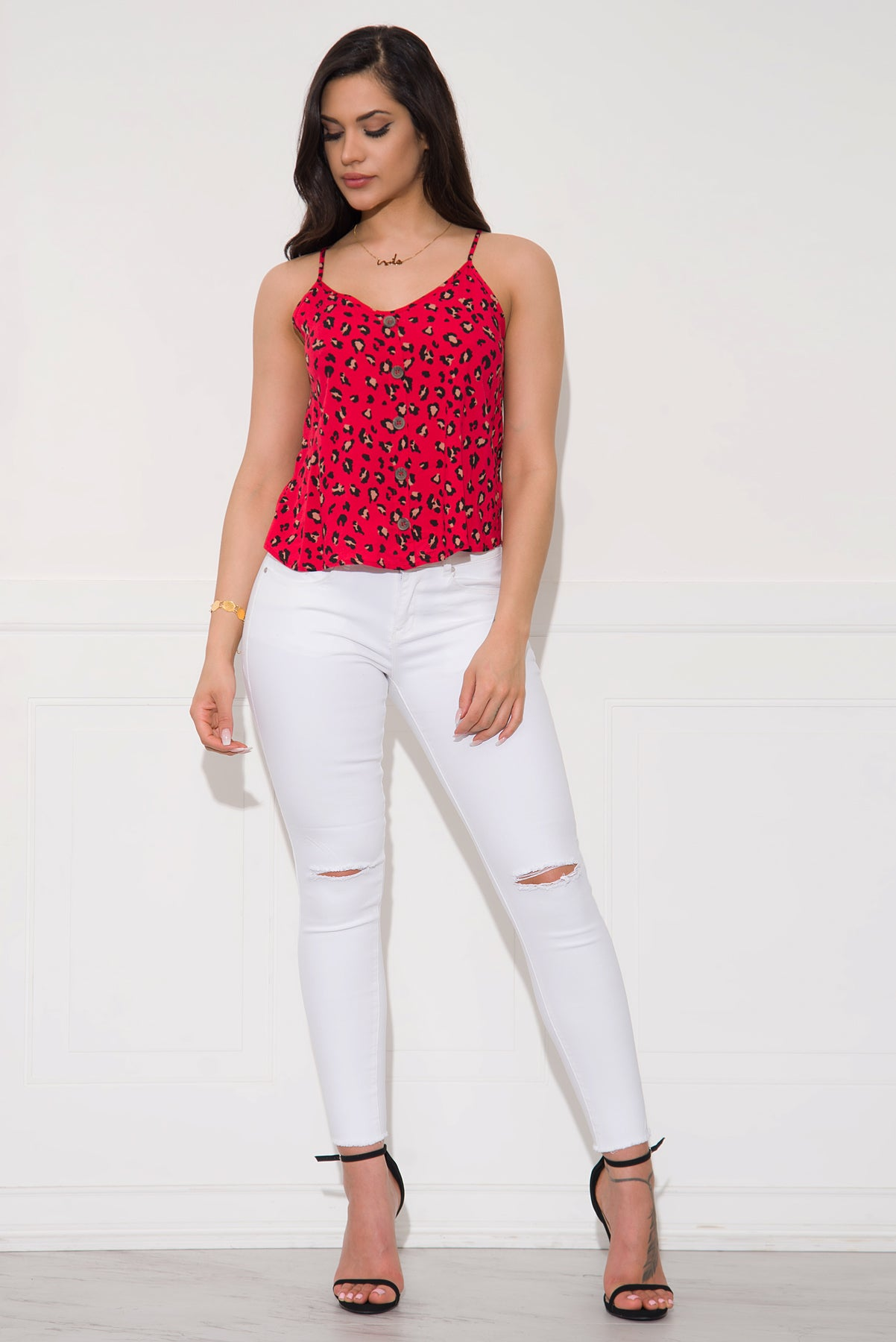 Debra Top- Red