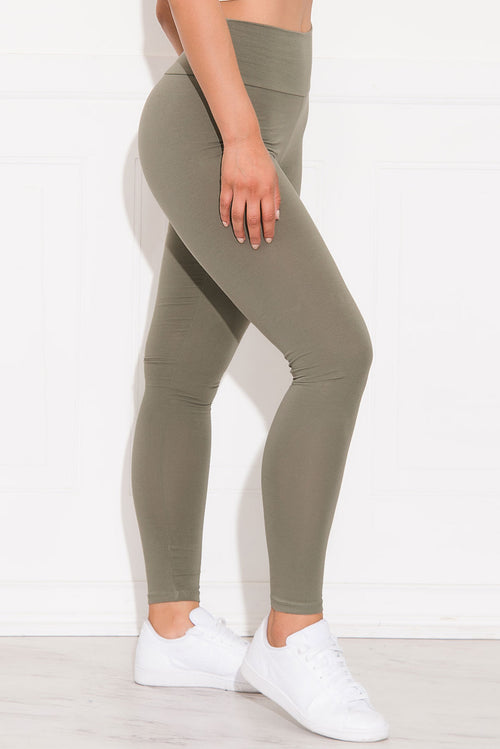 Skylar High Waist Leggings Military Green