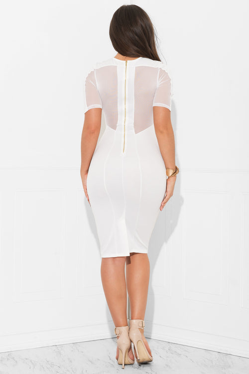 Nissa White Lace Dress