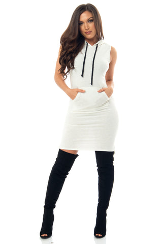 Becca Hooded Dress - Fashion Effect Store  - 1
