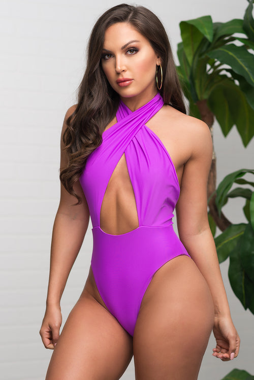 Coco Bay One Piece Swimsuit - Purple
