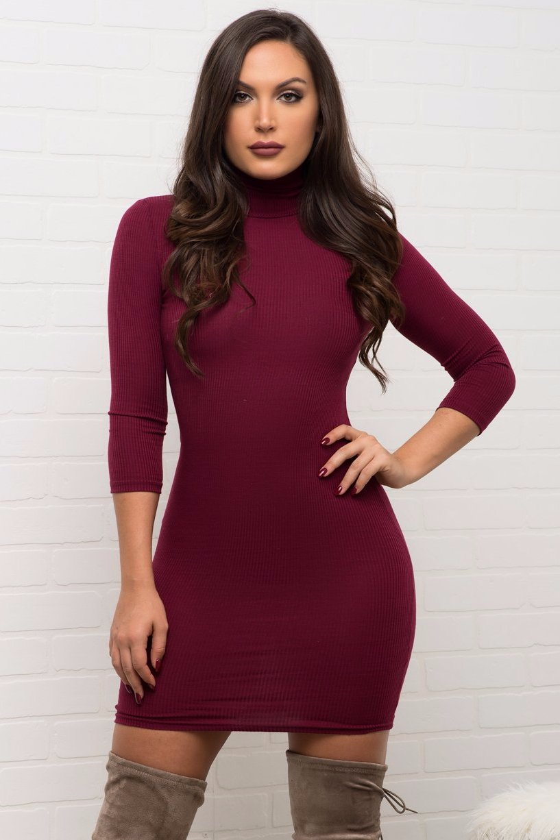 Whitney Dress - Burgundy