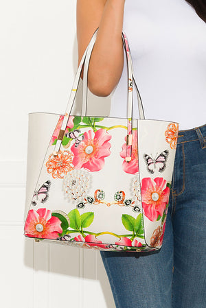 Finishing Touch Floral Bag Off White Large