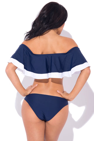 Cayman Islands Two Piece Swimsuit NAVY - Fashion Effect Store  - 2