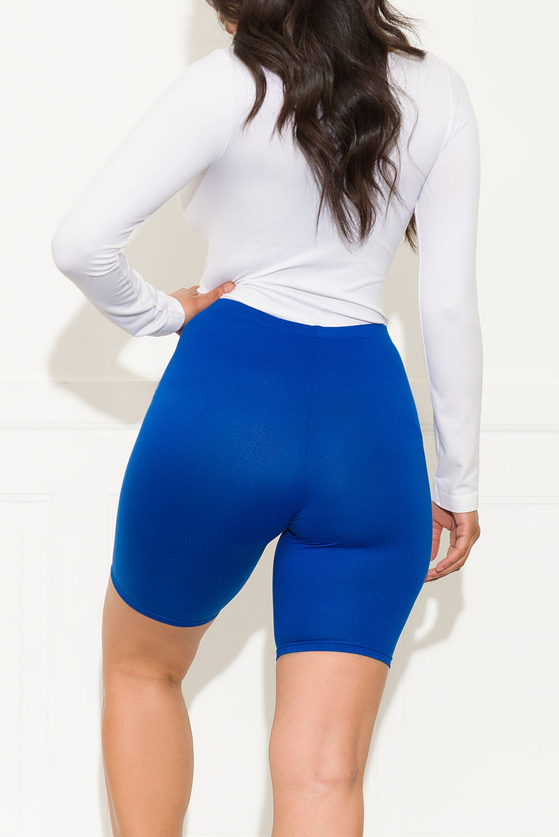 Right On Biker Short Royal Blue