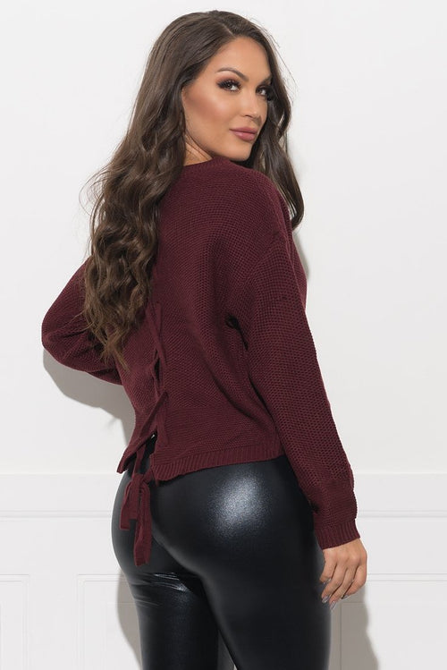 Danette Sweater - Burgundy
