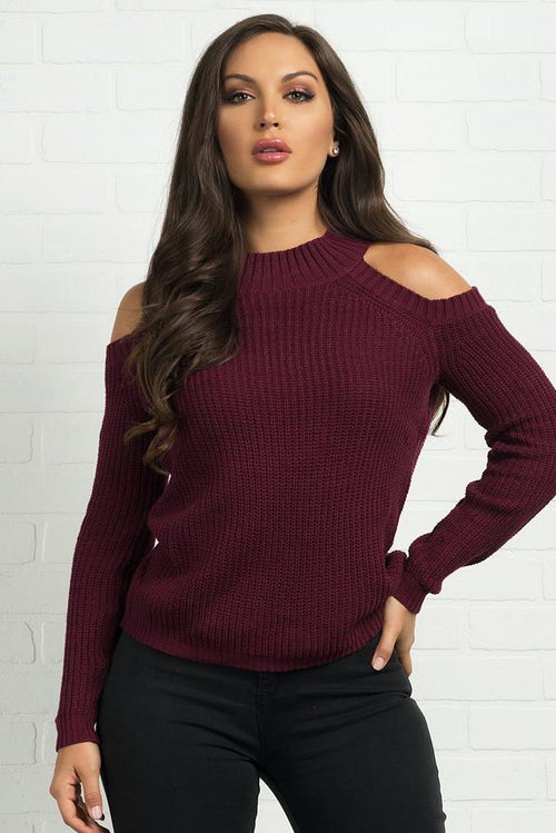 Rachel Sweater-Burgundy