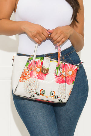 Finishing Touch Floral Bag Off White Medium