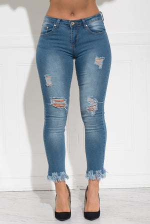 Zella Distressed Jeans