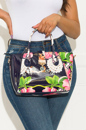 Finishing Touch Floral Bag Navy Medium