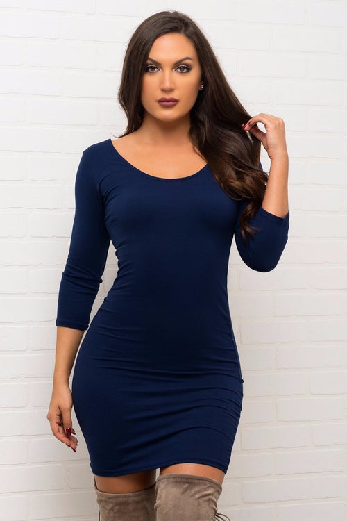 Serena Dress - Navy